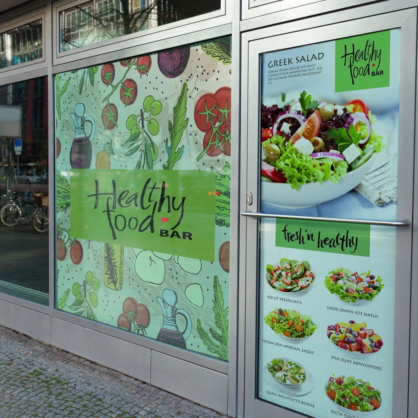 Restaurant Window Clings Printing Uprinting