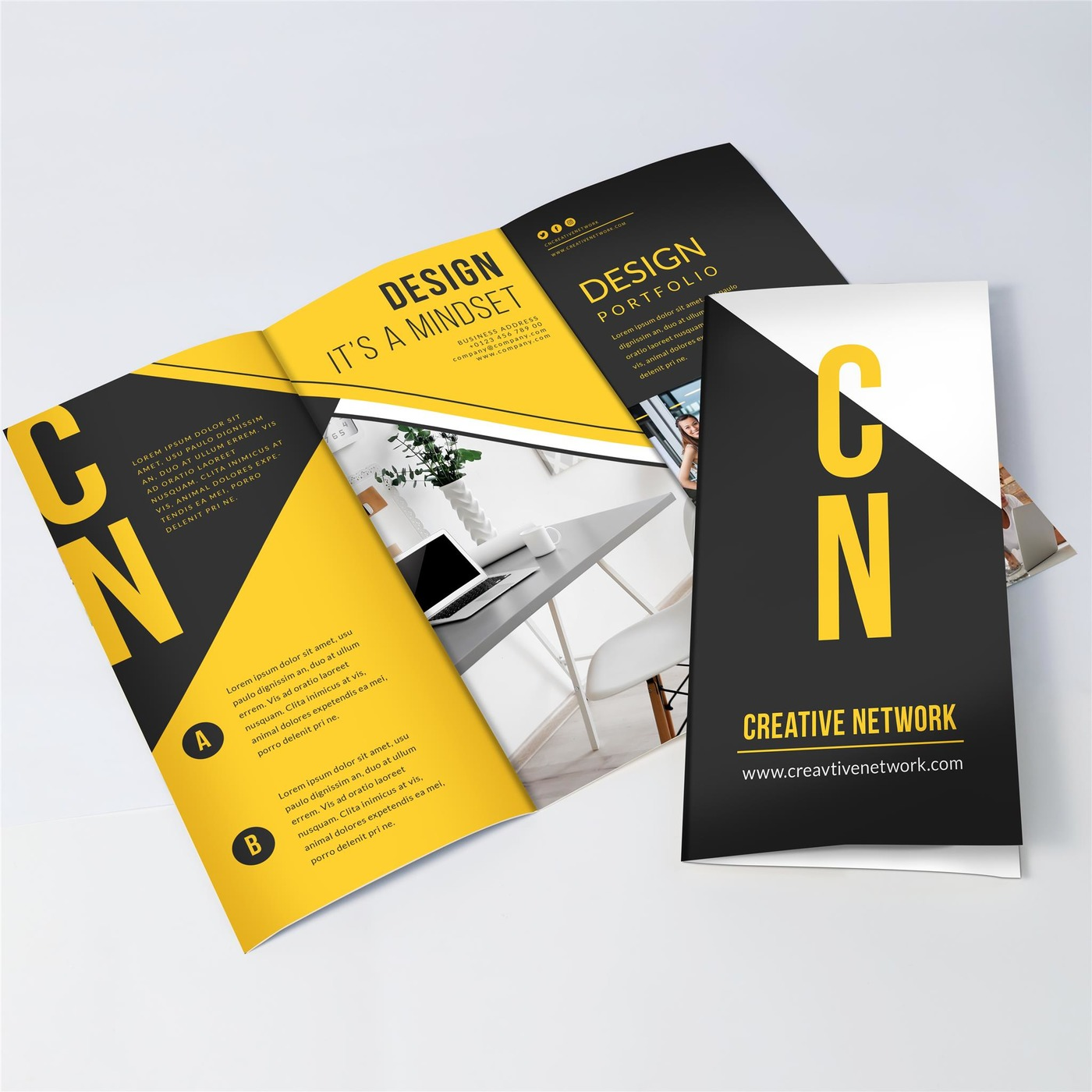 Tri Fold Brochure Printing - Free Print Templates and Design Proof ...